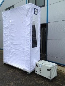 Alupod : dust containment White 3.05m test