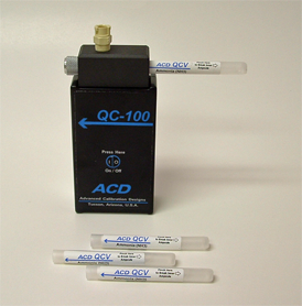 QC-100 Calibration Gas Bump Tester