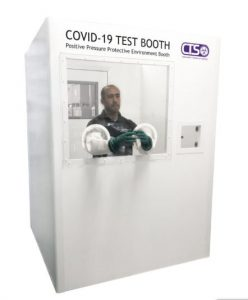 COVID  testing booth